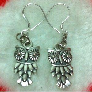 Owl 925 Stamped Earrings